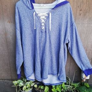 VICTORIA'S SECREAT XL blue sweter